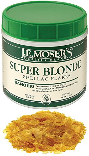 J.E. Moser's 848845, Finishes, Coatings, Super Blond Dewaxed Shellac (Blonde Finish)