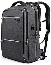 """Inateck 15,6"""" Laptop-Rucksack mit Großer Kapazität, Diebstahlsicherung, kratzfester und strapazierfähiger Notebook-Backpack mit USB-Ladeschnittstelle, inkl Regenschutzhülle - Lila"""