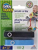 Baby Buddy Secure-A-Toy, Navy/Blue, 2-Pack