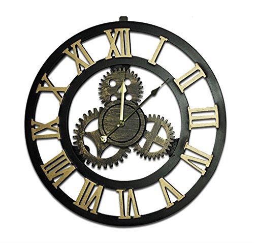 Lh$yu Reloj de Pared Estilo Vintage, Nordic Metal Pesado Estilo ...