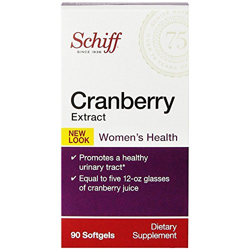 Schiff Cranberry Extract, 90 softgels - Women's Health Supplement (Pack of 6) (Cranberry Schiff)