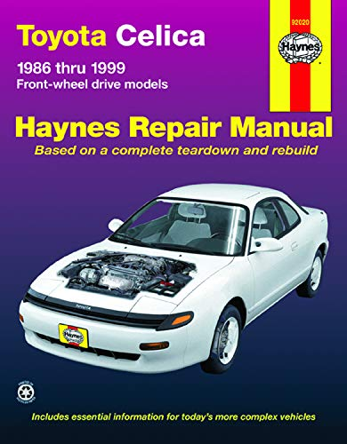 Haynes 92020 Toyota Celica (fwd) '86'99 ( Repair Manuals) (Haynes Repair Manuals) ()