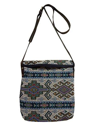 Ariyas Thaishop - Bolso cruzados de algodón para mujer multicolor multicolor