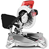 Goplus 8-Inch Compound Miter Saw, Single Bevel Sliding Glide Miter Saw with 0-45° Left Bevel Range, 5500RPM, 11 Amp 1400W Motor, with 24 Teeth Saw Blade and Dust Bag -  Superbuy