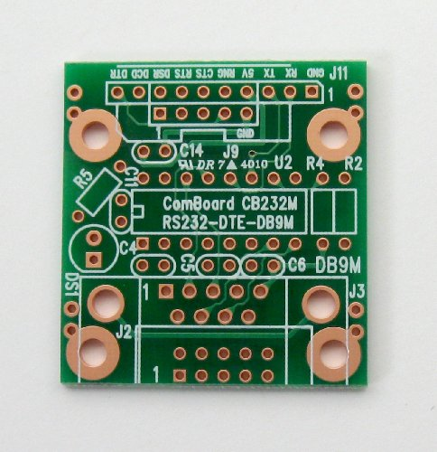 PCB-CB232M ComBoard Adapter RS-232 DB-9M (DTE), Unpopulated 2 Sided PCB, 1.40 x 1.50 in (35.6 x 38.1 mm)