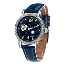 Time100 Constellation-Capricornus Genuine Leather Strap Automatic Mechanical Ladies Watch #W80050L (Capricornus)