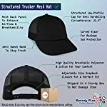 Trucker Hat Baseball Cap Dog Border Collie Lifeline A Embroidery Snaps One Size 7