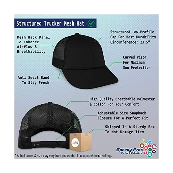 Trucker Hat Baseball Cap Dog Border Collie Lifeline A Embroidery Snaps One Size 2