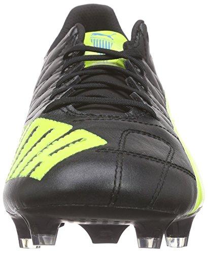 Puma Evospeed SL Lth FG, Botas de Fútbol para Hombre Negro - Black (black-safety yellow-white 05)