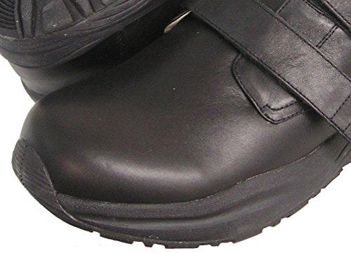 Scarpa Con Cinturino Regolabile Doppio Velcro Performance Maschile Mens / Nero