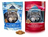 Blue Buffalo Wilderness Dog Treat Variety Pack - 2 Flavors Denali Blend 8-Ounces & Salmon Recipe 10-Ounces (2 Total Pouches)