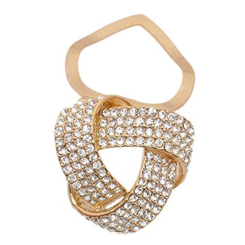 Maikun Round Rhinestone Brooch Scarf Ring Gift for Valentine's Mother's Day by Maikun (Image #2)