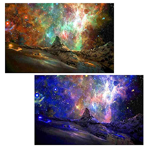 UPINS 2 Pack 5D Aurora Borealis DIY Diamond Painting by Number ()