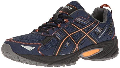 ASICS Men's Gel-Venture 5 Trail Runner, Indigo Blue/Hot Orange/Black, 12 M US