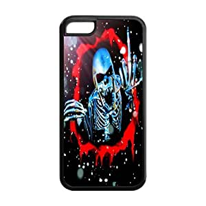 5C Phone Cases, Cool Skeleton Hard TPU Rubber Cover Case for iPhone 5C