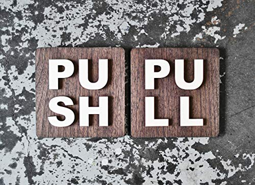 Push Pull Office Door Signs - 6