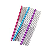 Botrong 16cm Pet Comb Professional Steel Grooming Comb Cleaning Brush - 1 Piece (Purple)