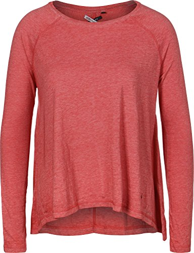 Khujo Naila W Camiseta de manga larga rojo jaspeado