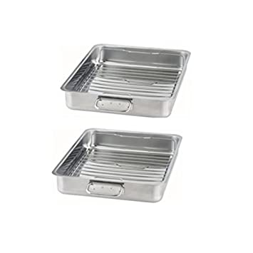 IKEA KONCIS - Bandeja para asar con grill accesorio de, acero inoxidable: Amazon.es: Hogar