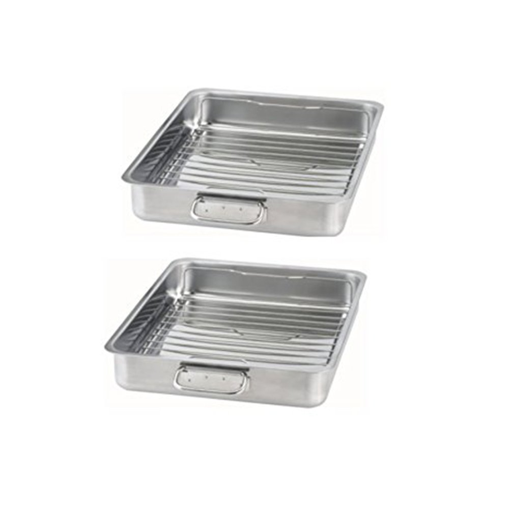 IKEA - KONCIS Roasting pan with grill rack, stainless steel (2, 16x13) by IKEA (Image #1)
