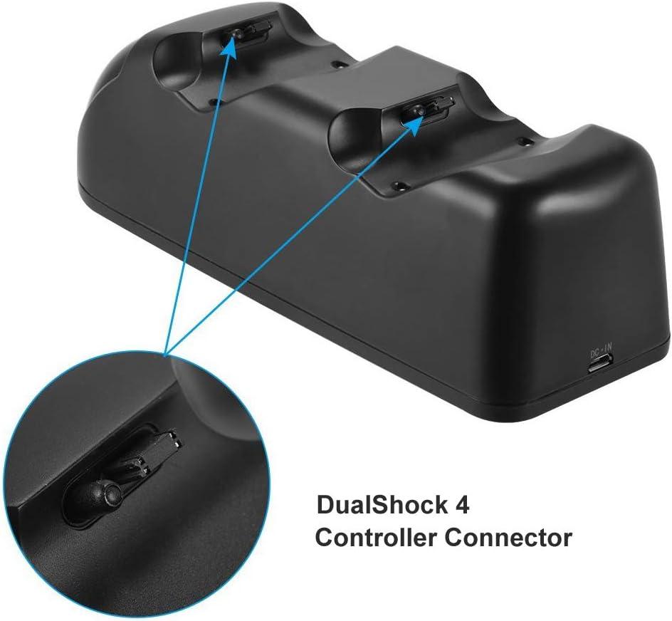 Estación de carga para DualShock 4 Controller - ElecGear Rápida Dual Charger Charging Base Cargador con LED para Mando de PlayStation /PS4 /PS4 Slim /PS4 Pro Gamepad: Amazon.es: Informática