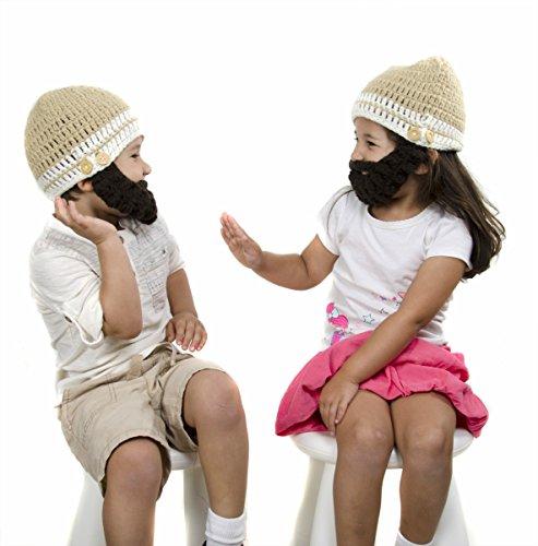 d3dfa739 Medium Beard Beanie - Tan Lumberjack Beanie Hat for Toddler and Kid ...