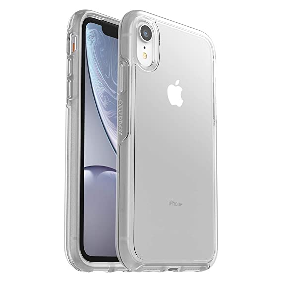 new arrival 6c7eb 1c580 OtterBox Symmetry Case for iPhone XR with Tempered Glass Screen Protector  fits OtterBox - Clear