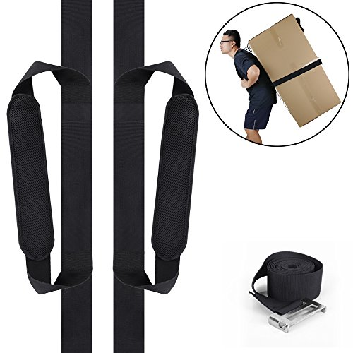 Moving Straps, totobay Moving and Lifting Straps for One Person Heavy Duty Carrying Straps and Harnesses with Foam Pad Stable Belt Easy for Carrying Furniture, Appliances, Heavy Objects (one person) …