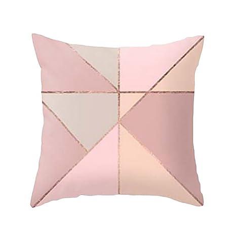 Fundas De Cojines, ❤️Xinantime Funda de almohada geométrica de textura de mármol Fundas de colchón Sofá Decoración (❤️Multicolor E)