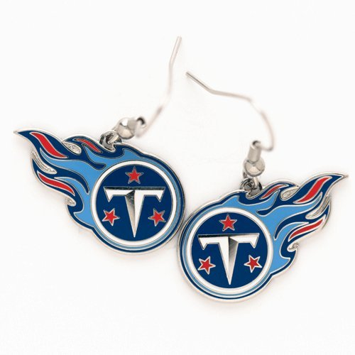 WinCraft NFL Tennessee Titans Earrings Jewelry Card
