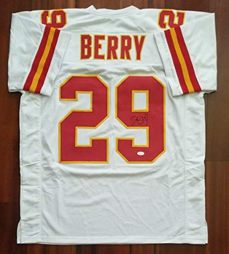 Eric Berry Autographed White Chiefs Jersey - Hand Signed By Eric Berry and Certified Authentic by JSA - Includes Certificate of Authenticity