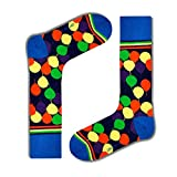 Men's navy casual socks with Balloons. Love Sock
