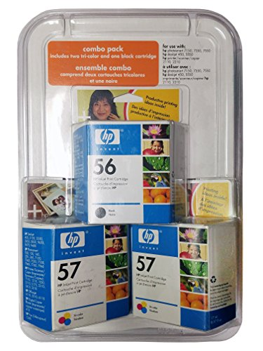Hp Photosmart 7760 - HP C8800AN 56/57 Tri Pack Ink Cartridges for Printers