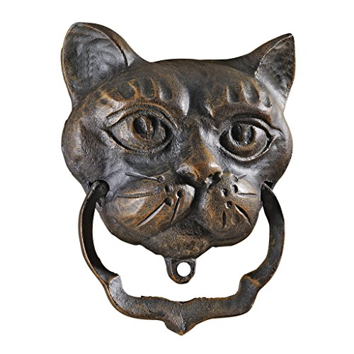 (Design Toscano Black Cat Iron Door Knocker)