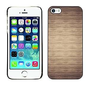 Cubierta de la caja de protección la piel dura para el Apple iPhone 5 / 5S - pattern beige minimalist horizontal