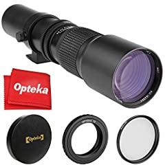 The Opteka 500mm f/8 Manual Focus Lens is a classic refractor-style T-mount lens, with an aperture diaphragm in the middle of the lens body to stop down the aperture when necessary. However, it is assumed that much of the shooting with such a...