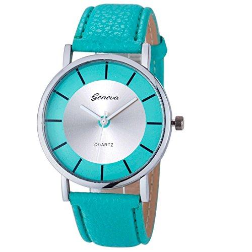 - BCDshop Quartz Wrist Watch Geneva Fashion Retro Dial Leather Analog Quartz Watches Gift (Mint-Green, alloy)