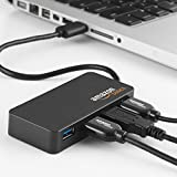 AmazonBasics 4 Port USB to USB 3.0 Hub with 5V/2.5A power adapter