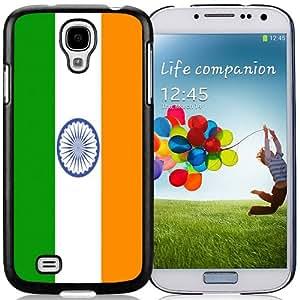 NEW Fashion Custom Designed Cover Case For Samsung Galaxy S4 I9500 i337 M919 i545 r970 l720 India Flag Black Phone Case