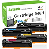 Aztech 4PK High Yield Cartridge 046 Compatible for Canon...