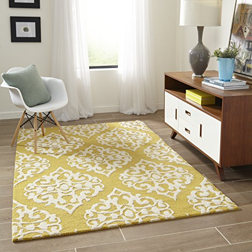Momeni Rugs DUNESDUN-5GLD2030 Dunes Collection, Hand Tufted 100% Wool Transitional Area Rug, 2' x 3', Gold