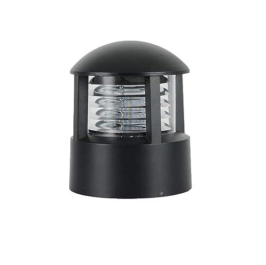 PingFanMi Lámpara de calle con lámpara de jardín LED, lámpara de pie, lámpara de pie, lámpara de jardín, exterior, casa de campo, lámpara de jardín, súper luminosa, luminosa, iluminación brillante y c: