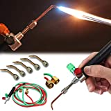 Mini Gas Little Torch Welding Soldering Gun kit,Micro Jewelry Gas Welding Torch Jewelers Soldering Brazing Cutting Tools,6000 Degrees F,1 Mini Gas Torch+5 Interchangeable Torch Tip