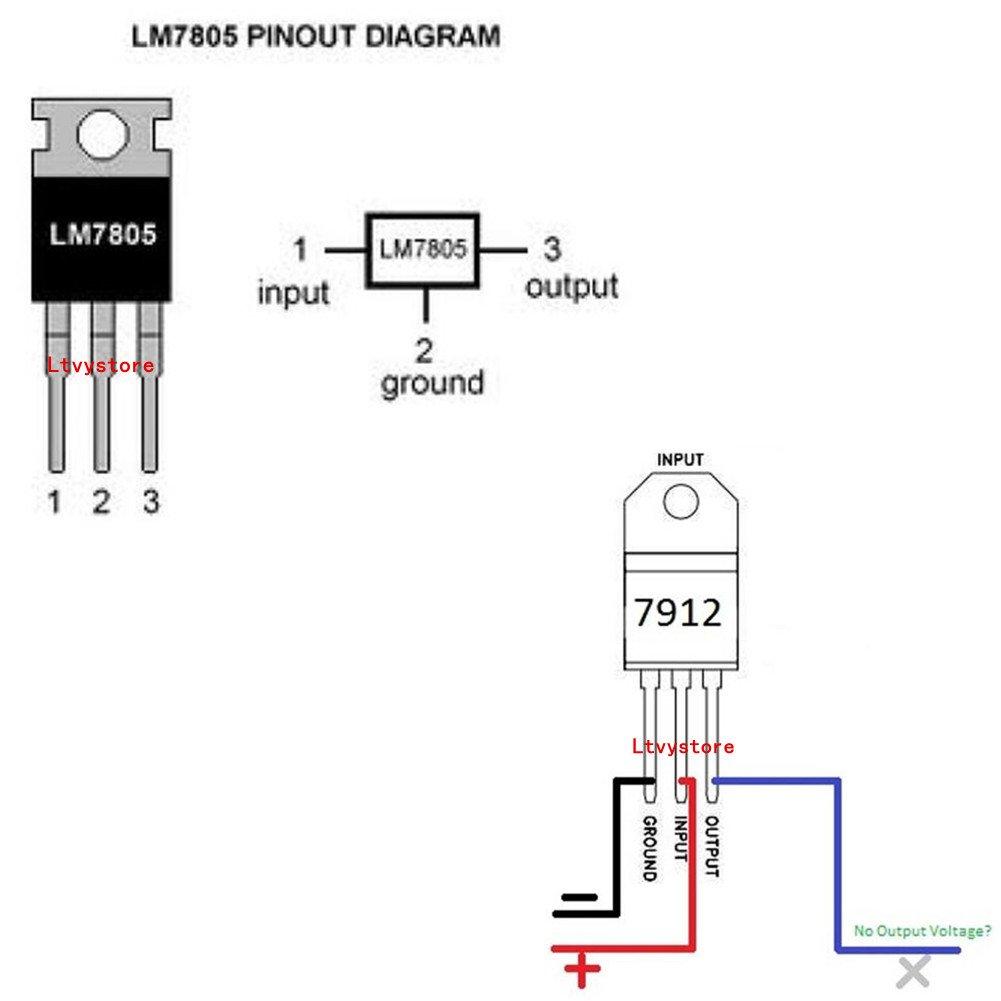 Transistor Kit 3 Pin Terminal Postive Negative Photo Circuit Voltage Regulator Ic Transistors Assorted Assortment Box T0 220 Setrange L7915 Lm317