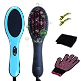 Cheap Fernida Hair Dryer Straightener, Best Hair Straightening Brush,With Flexible Hair Massager Function Styling Tools,(Extral 1pc Blue Hair Brush Bonus)
