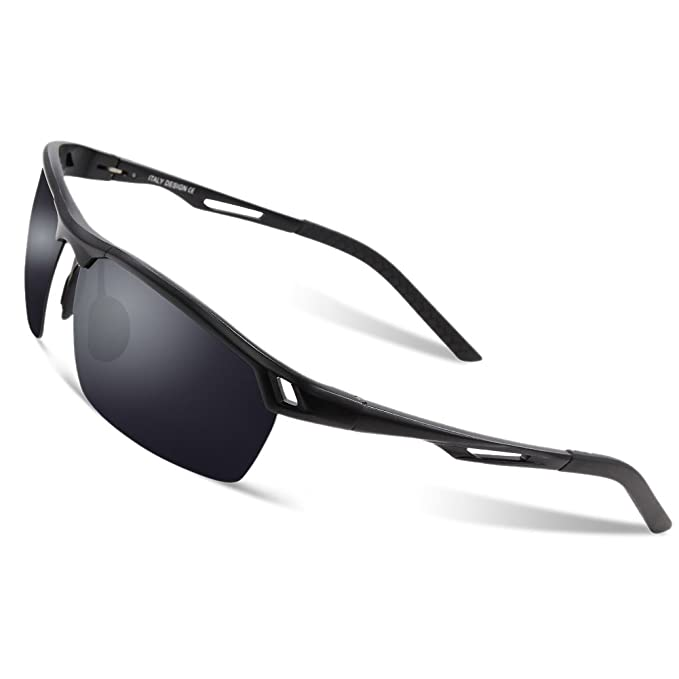daf7a6034cd DUCO Men s Sports Style Polarised Sunglasses Driver Glasses 8550 (Black -  Grey)