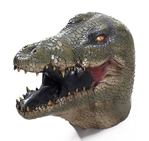 Forum Novelties Men's Alligator Latex Mask, Multi Colored, One Size