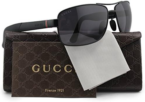 6b7a030969c GUCCI GG2234 S Polarized Sunglasses Matte Black w Crystal Grey (0COY) 2234