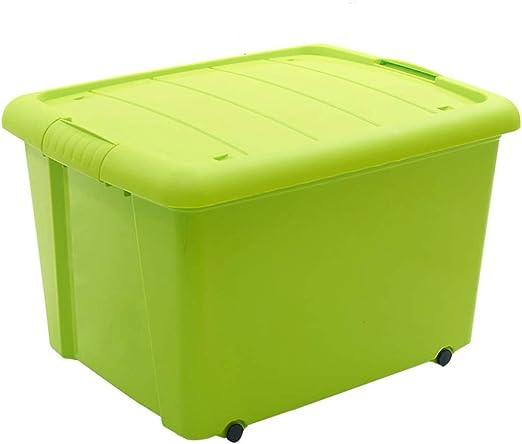 Caja de Almacenamiento de plástico Verde con Cubierta Ropa de Juguete Snack Bedroom Travel: Amazon.es: Hogar