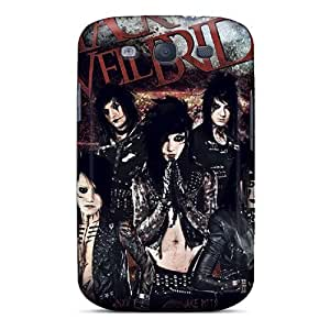 New Style Tpu S3 Protective Case Cover/ Galaxy Case - Black Veil Brides